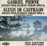 PIERNE - Perez - Sonate pour violon et piano op.36bis