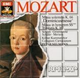 MOZART - Neumann - Missa Dominicus en do majeur, pour solistes, choeur et