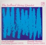 MARTINO - Juilliard Strin - Quatuor à cordes