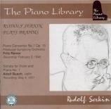 BRAHMS - Serkin - Concerto pour piano et orchestre n°1 en ré mineur op.1
