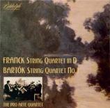 FRANCK - Quatuor Pro Art - Quatuor à cordes en ré majeur FWV.9