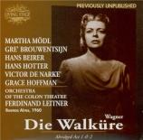 WAGNER - Leitner - Die Walküre (La Walkyrie) WWV.86b : extraits Buenos Aires, 1960