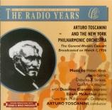 WEBER - Toscanini - Der Freischütz : ouverture Live recording: NY, 1er mars 1936