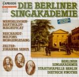 MENDELSSOHN-BARTHOLDY - Knothe - Magnificat, pour chœur avec orchestre M