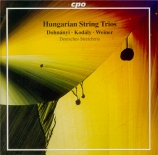 Romantic String Trios from Hungary