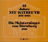 WAGNER - Knappertsbusch - Die Meistersinger von Nürnberg (Les maîtres ch Live Bayreuth 1960