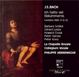 BACH - Herreweghe - Ich hatte viel Bekümmernis, cantate pour solistes, c