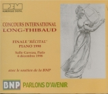 Concours Long-Thibaud 1998 : finale piano