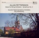 PETTERSSON - Westerberg - Mesto, pour orchestre à cordes