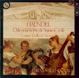 HAENDEL - Stich-Randall - Ode for St. Cecilia's Day HWV.76