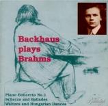 BRAHMS - Backhaus - Concerto pour piano n°1 op.15