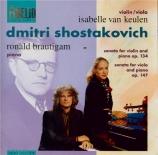 CHOSTAKOVITCH - Van Keulen - Sonate pour violon et piano op.134