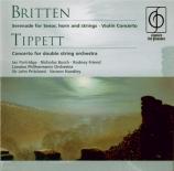 BRITTEN - Handley - Serenade, cycle de mélodies pour ténor, cor et corde