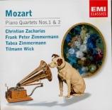 MOZART - Zacharias - Quatuor pour piano et cordes en sol mineur K.478