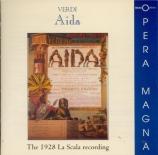 VERDI - Sabajno - Aida, opéra en quatre actes