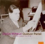 MILHAUD - Quatuor Parisii - Quatuor à cordes n°5 op.64