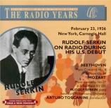US Debut of Rudolf Serkin live New York 23/2/1936