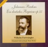 BRAHMS - Furtwängler - Ein deutsches Requiem (Un Requiem allemand), pour