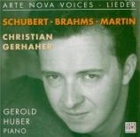Lieder de Schubert, Brahms et Martin