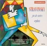 STRAVINSKY - Järvi - Jeu de cartes, ballet en 3 'donnes', pour orchestre
