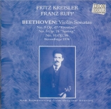 BEETHOVEN - Kreisler - Sonate pour violon et piano n°5 op.24 'Le printem