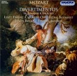 MOZART - Rolla - Divertimento n°17, pour quatuor à cordes et deux cors e
