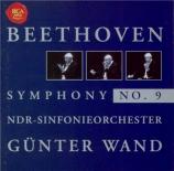 BEETHOVEN - Wand - Symphonie n°9 op.125 'Ode à la joie'