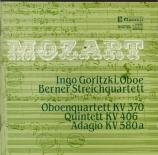 MOZART - Goritzki - Quintette à cordes n°2 K.406