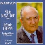 CHOPIN - Magaloff - Rondo à la mazur, pour pianoen fa majeur op.5