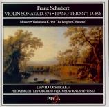 SCHUBERT - Oistrakh - Sonate pour piano et violon en la op.posth.162 D.5