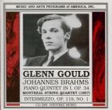 BRAHMS - Gould - Quintette avec piano en fa mineur op.34