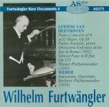 BEETHOVEN - Furtwängler - Concerto pour piano n°4 op.58