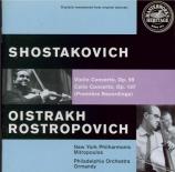 CHOSTAKOVITCH - Oistrakh - Concerto pour violoncelle n°1 op.107