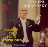 BRAHMS - Mravinsky - Symphonies (intégrale)
