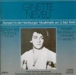 BRAHMS - Neveu - Concerto pour violon et orchestre en ré majeur op.77 Enregistrement de concert Hamburg le 3 mai 1948