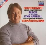 CHOSTAKOVITCH - Harrell - Concerto pour violoncelle n°1 op.107