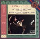MOZART - Perahia - Sonate pour deux pianos en ré majeur K.448 (K6.375a)