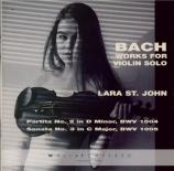 BACH - St John - Partita pour violon seul n°2 en ré mineur BWV.1004