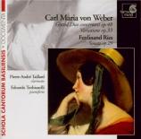 WEBER - Taillard - Grand Duo concertant pour clarinette et piano en mi b