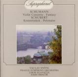 SCHUMANN - Snitil - Concerto pour violon et orchestre en ré mineur WoO.2