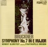 BRUCKNER - Blomstedt - Symphonie n°7 en mi majeur WAB 107 (import Japon) import Japon