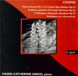 CHOPIN - Girod - Andante spianato et grande polonaise brillante, pour pi