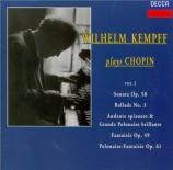 CHOPIN - Kempff - Sonate pour piano n°3 en si mineur op.58 (Vol.2) Vol.2