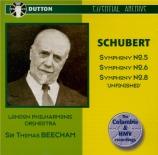 SCHUBERT - Beecham - Symphonie n°5 D.485