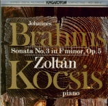 BRAHMS - Kocsis - Sonate pour piano n°3 en fa mineur op.5