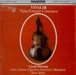 VIVALDI - Sandor - Concerto pour viole d'amour, cordes et b.c. en la maj