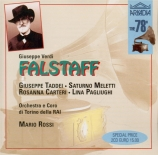 VERDI - Rossi - Falstaff, opéra en trois actes live RAI Torino 2 - 10 - 1949