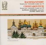 RACHMANINOV - Sommer - Sonate pour violoncelle et piano en sol mineur op
