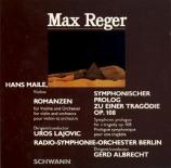 REGER - Albrecht - Prologue symphonique pour une tragédie, pour orchestr