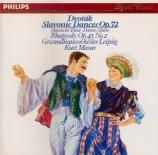 DVORAK - Masur - Huit danses slaves op.72, version pour orchestre B.147